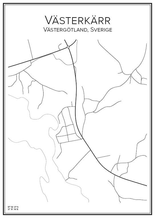 Stadskarta över Västerkärr