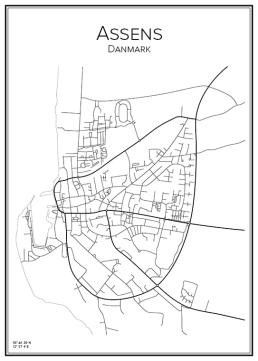 Stadskarta över Assens
