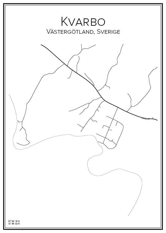 Stadskarta över Kvarbo