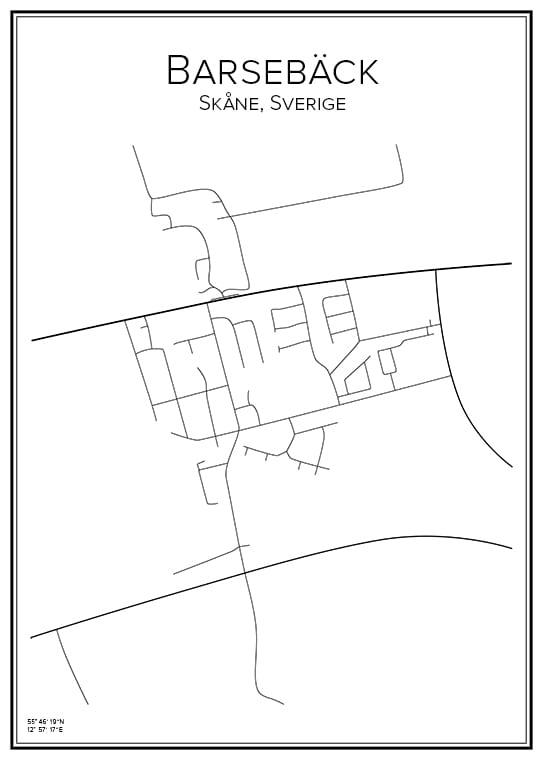 Stadskarta över Barsebäck