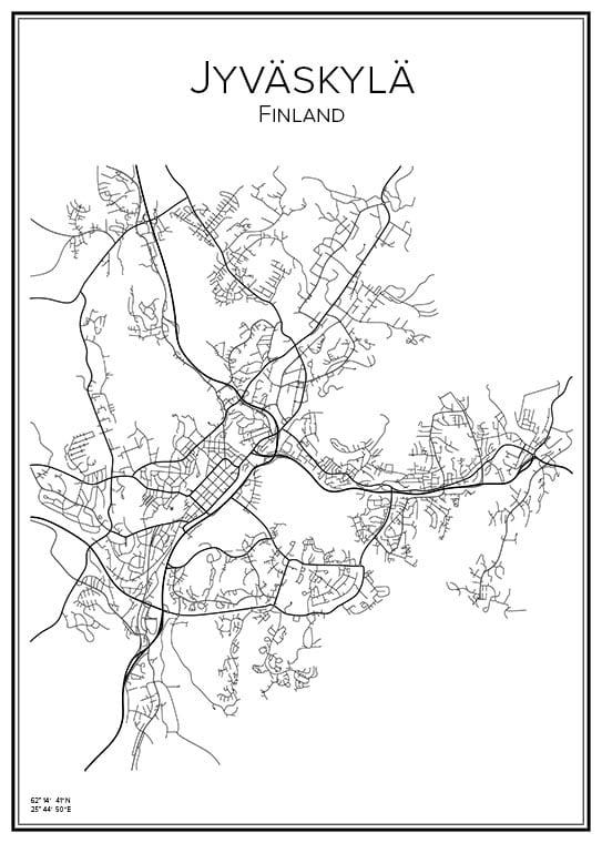 Stadskarta över Jyväskylä