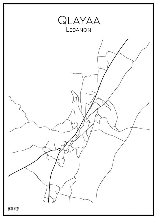 Stadskarta över Qlayaa