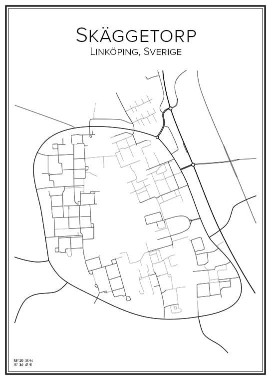 Stadskarta över Skäggetorp