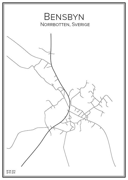 Stadskarta över Bensbyn