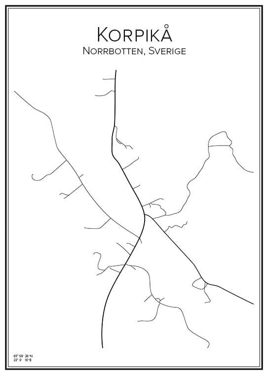 Stadskarta över Korpikå