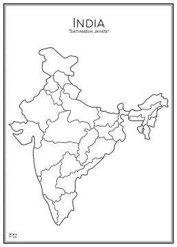 Stadskarta över Indien
