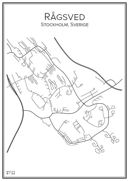 Stadskarta över Rågsved