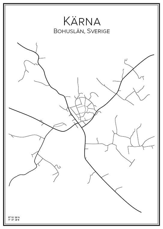 Stadskarta över Kärna