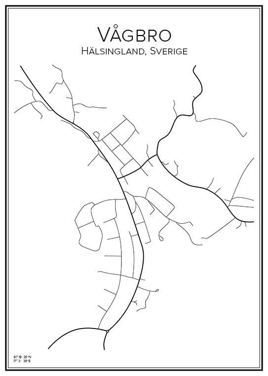 Stadskarta över Vågbro
