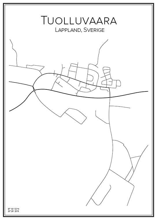 Stadskarta över Tuolluvaara