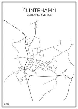 Stadskarta över Klintehamn