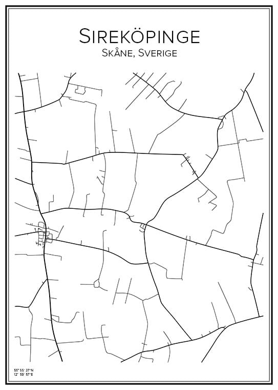 Stadskarta över Sireköpinge