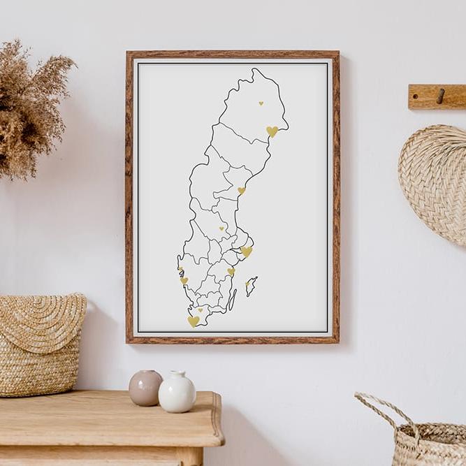 Markeringskarta - Sverige - Guld