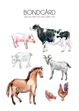 Djur på bondgården