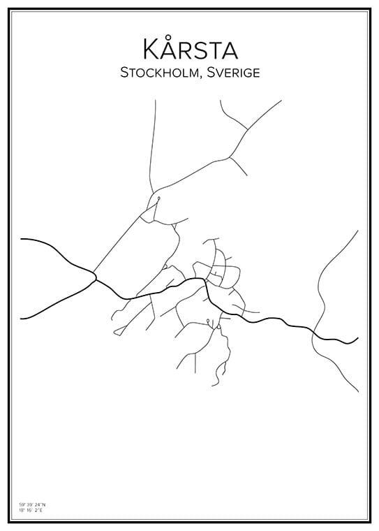 Stadskarta över Kårsta