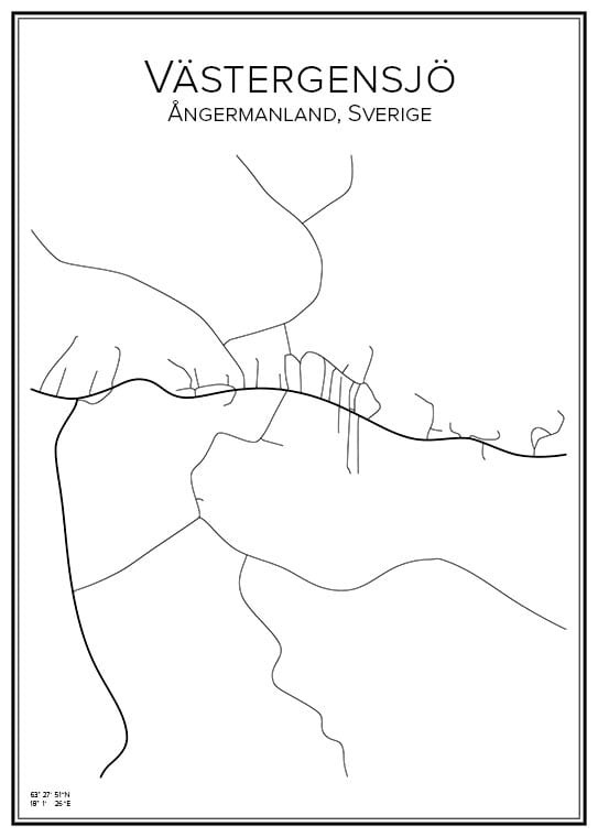 Stadskarta över Västergensjö