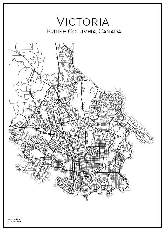 Stadskarta över Victoria