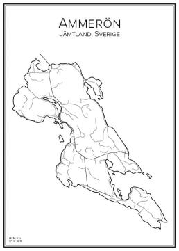 Stadskarta över Ammerön