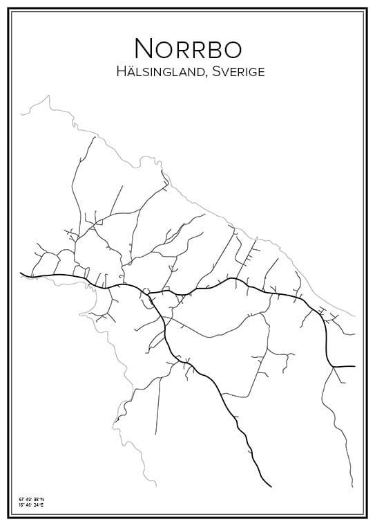 Stadskarta över Norrbo