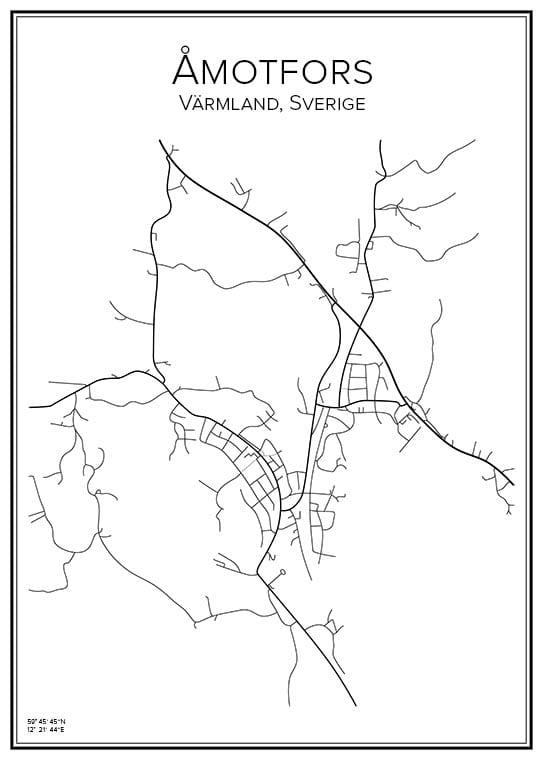 Stadskarta över Åmotfors
