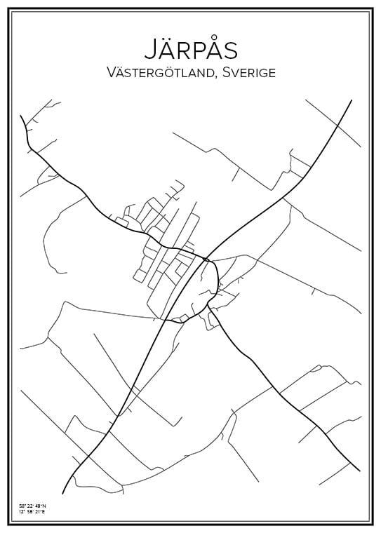 Stadskarta över Järpås