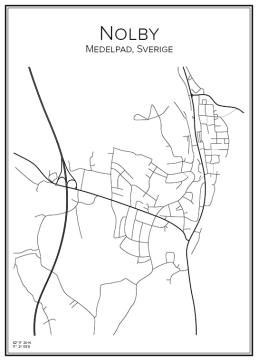 Stadskarta över Nolby