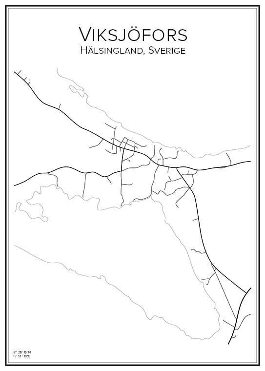 Stadskarta över Viksjöfors