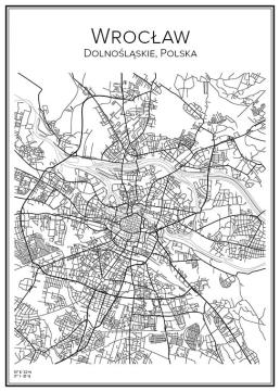 Stadskarta över Wrocław