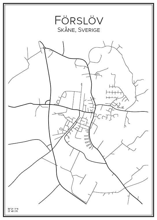 Stadskarta över Förslöv