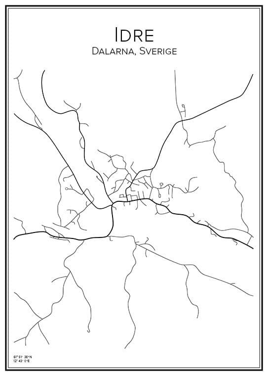 Stadskarta över Idre