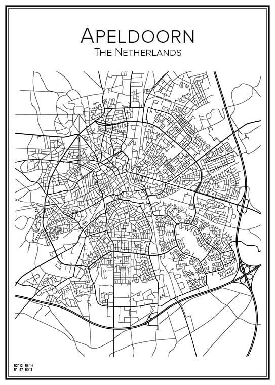 Stadskarta över Apeldoorn