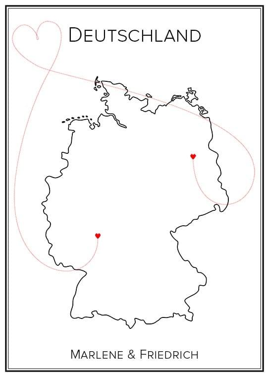 Kärlekskarta över Tyskland