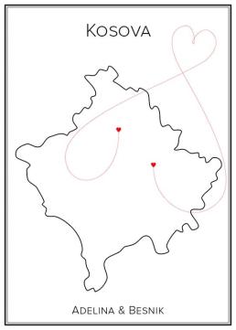 Kärlekskarta Kosovo