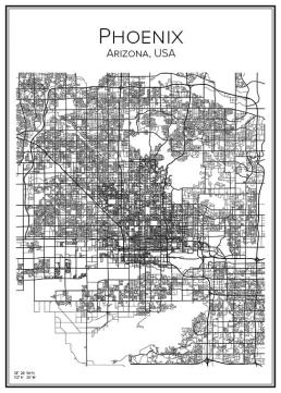 Stadskarta över Phoenix