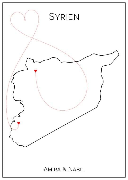 Kärlekskarta över Syrien