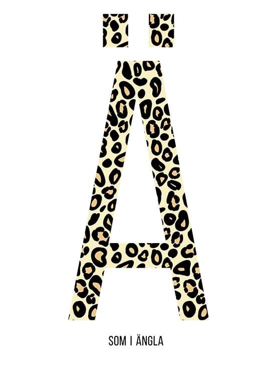 Bokstaven Ä leopard