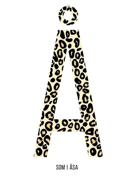 Bokstaven Å leopard