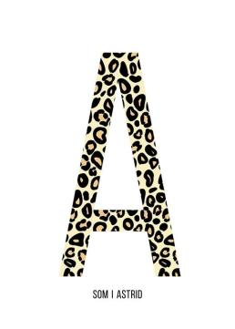 Bokstaven A leopard