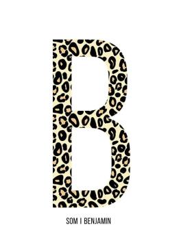 Bokstaven B leopard