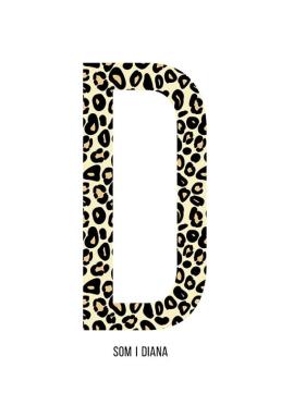 Bokstaven D leopard