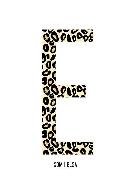 Bokstaven E leopard