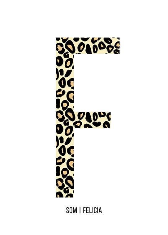 Bokstaven F leopard