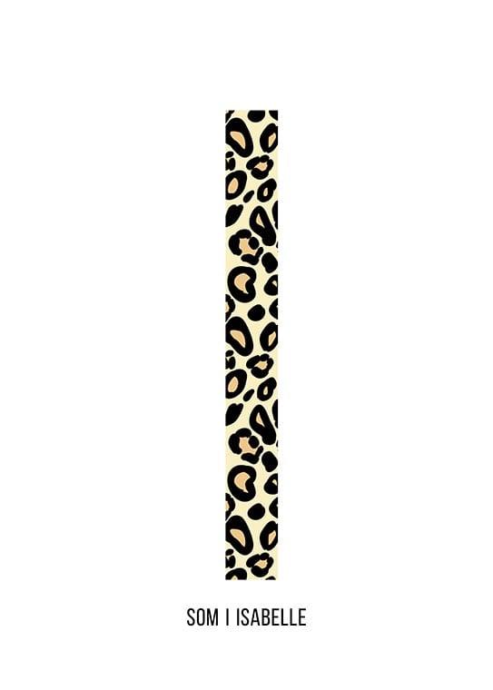 Bokstaven I leopard