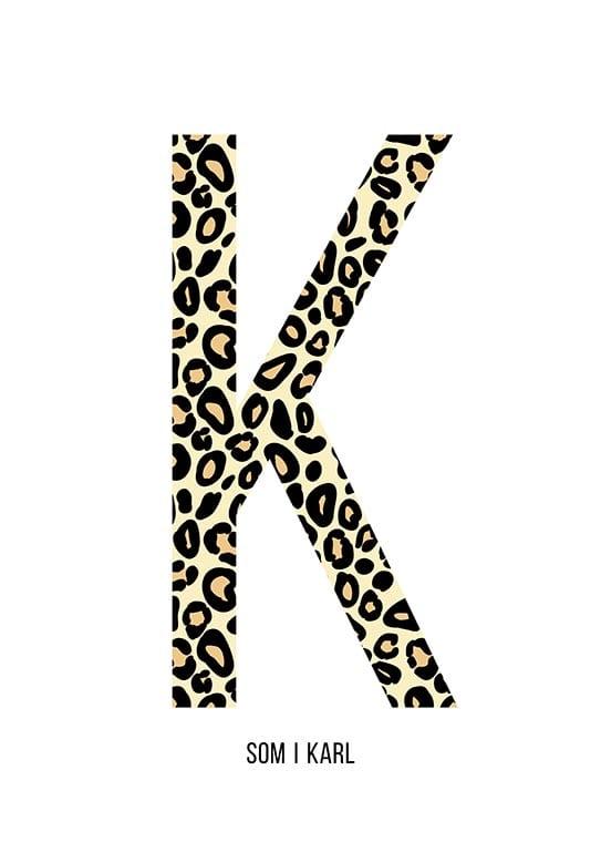 Bokstaven K leopard