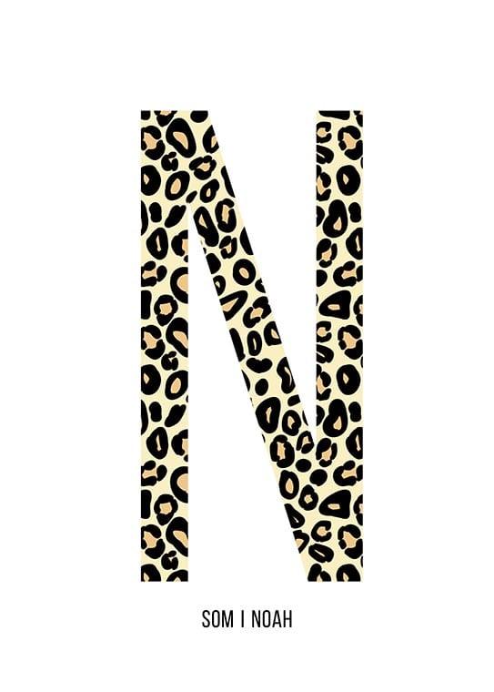 Bokstaven N leopard