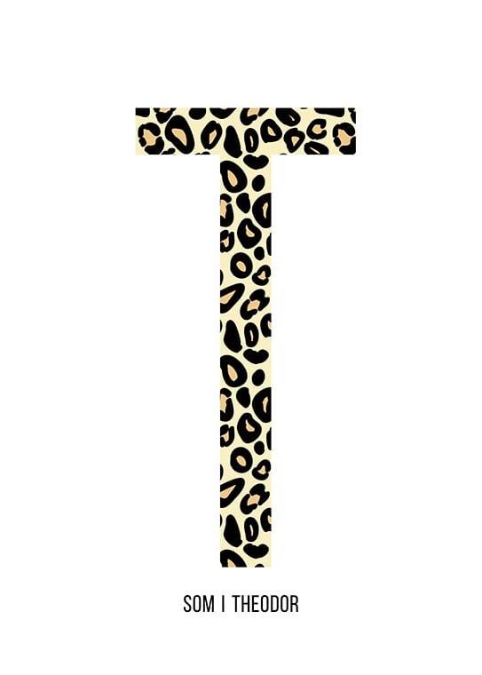 Bokstaven T leopard
