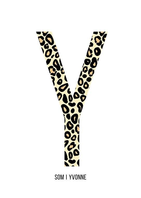Bokstaven Y leopard