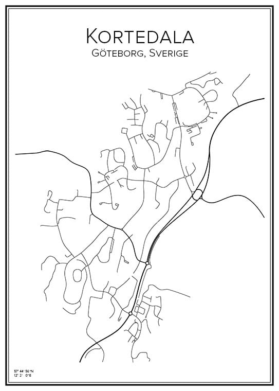 Stadskarta över Kortedala