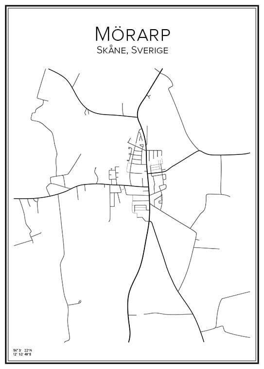 Stadskarta över Mörarp