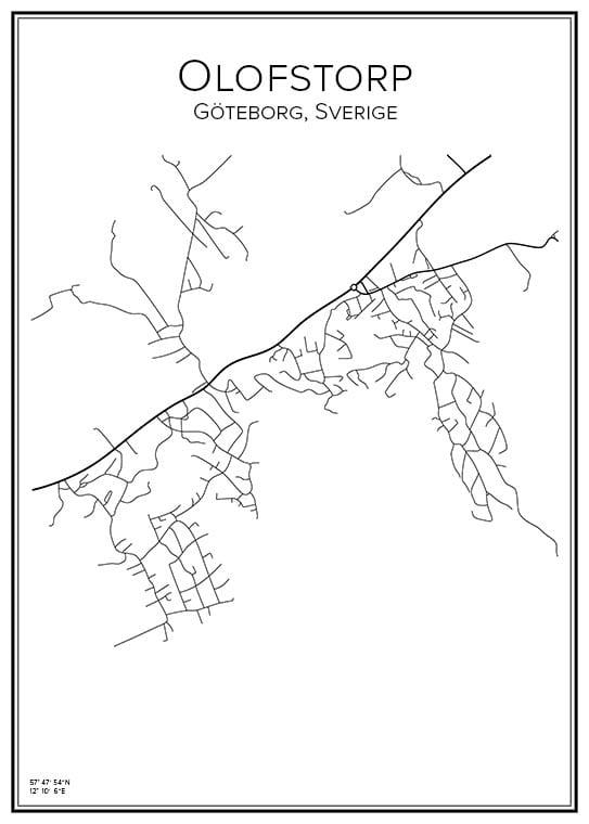 Stadskarta över Olofstorp